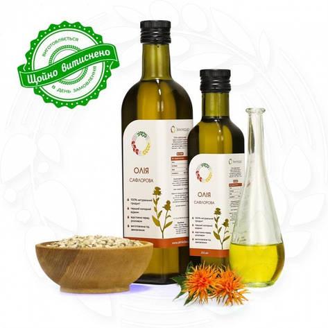Сафлоровое сыродавленное масло в бутылке, фото 2