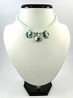 Эксклюзивное ожерелье детское Перламутр, Изысканное ожерелье из натурального камня, Красивые украшения из нату