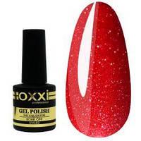 Гель-лак Окси Oxxi № 235 красный, глиттерный 10 ml