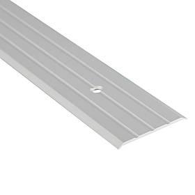 Алюминиевый профиль одноуровневый рифленый анодированный 40мм х 2.7 м серебро