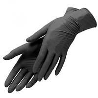 Рукавички медичні нітрилові оглядові нестерильні неприпудрені торгової марки IGAR, чорного кольору