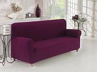Чехол на диван Баклажановый Home Collection Karna Турция 50085