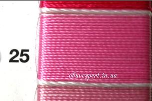 Швейная нить Gold Polydea 40 № 25, цв. розовый, фото 2