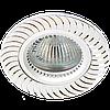Светильник точечный встраиваемый из алюминия Feron GS-M392 серебро