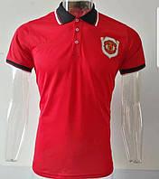 Мужская спортивная футболка поло, с воротником Манчестер Юнайтед, Адидас, 2019-2020 сезон, красная