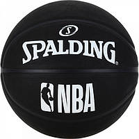 Мяч баскетбольный Spalding NBA Black размер 7 резиновый черный (3001500300017)
