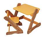 Детский столик оранжевый от производителя! (с регулировкой), фото 3