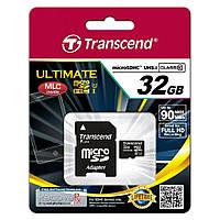 Карта пам'яті microSD 32Gb class 10 UHS-I Transcend 600x Ultimate (TS32GUSDHC10U1)