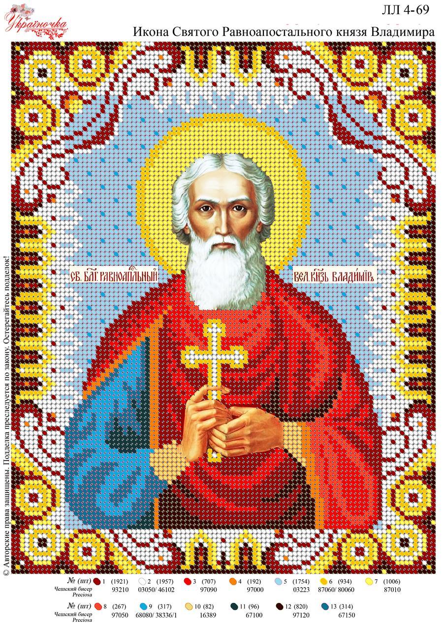 Ікона Святого рівноапостольного князя Володимира