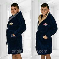 Детский банный халат для мальчика, фото 1