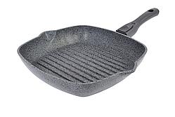 Сковорода-гриль Биол Гранит грей со съемной ручкой 28 см 28144П