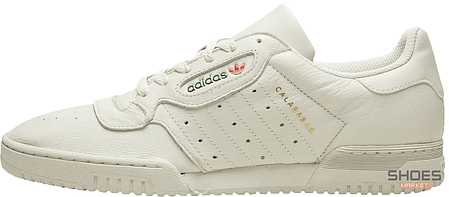 Мужские кроссовки Adidas Yeezy Powerphase Calabasas Core White, Адидас Изи Поверфаз Калабасас, фото 2