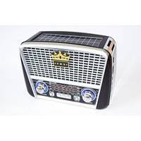 Портативная колонка MP3 USB Golon RX-455S Solar Black-Silver gr006829, КОД: 397621