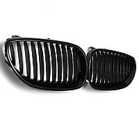 Решетка радиатора для BMW E60, 61, M5 (2003-2009) черный глянец (ноздри)