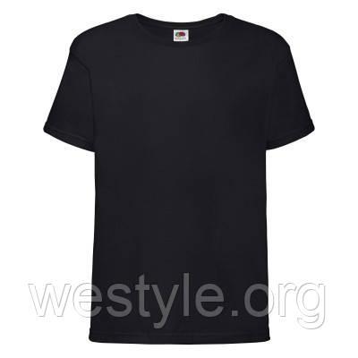 Футболка хлопковая средней плотности мягкая детская - 61015-36 черная