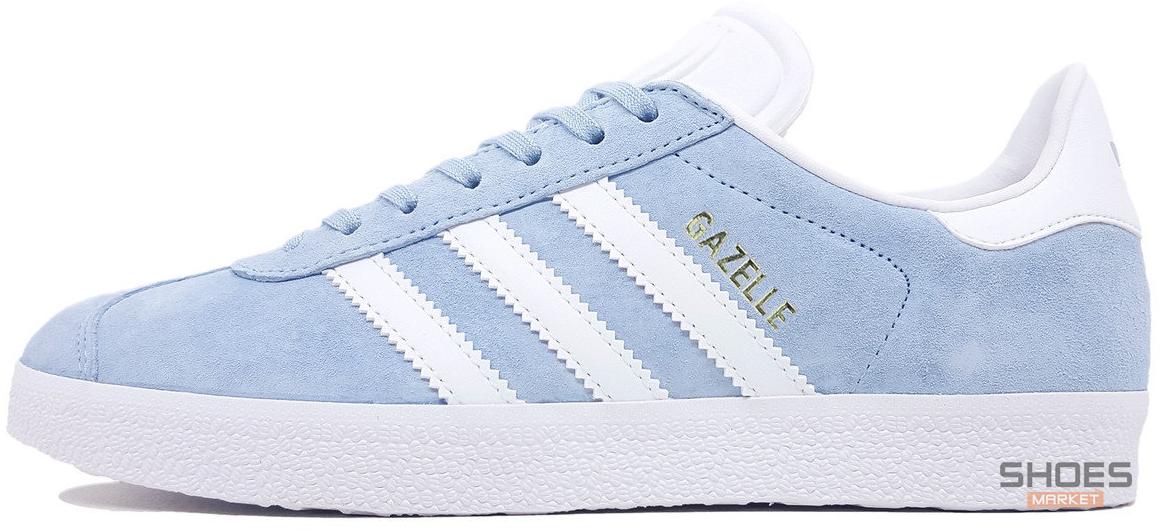 Женские кроссовки Adidas Gazelle Light Blue BB5481, Адидас Газели