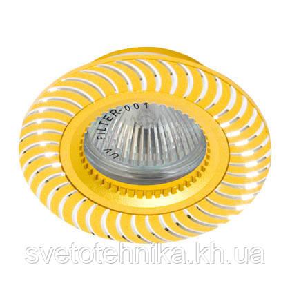Светильник точечный встраиваемый из алюминия Feron GS-M392 золото