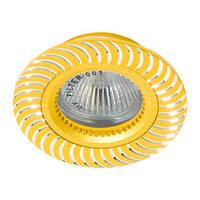 Светильник точечный встраиваемый из алюминия Feron GS-M392 золото, фото 1
