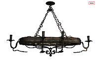 Люстра кованая деревянная на 6 ламп