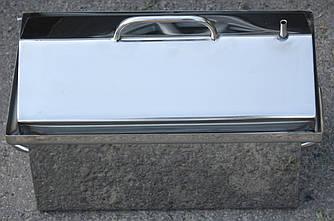 Коптилка горячего копчения с водяным затвором из нержавеющей стали толщина 1,2 мм. Малая