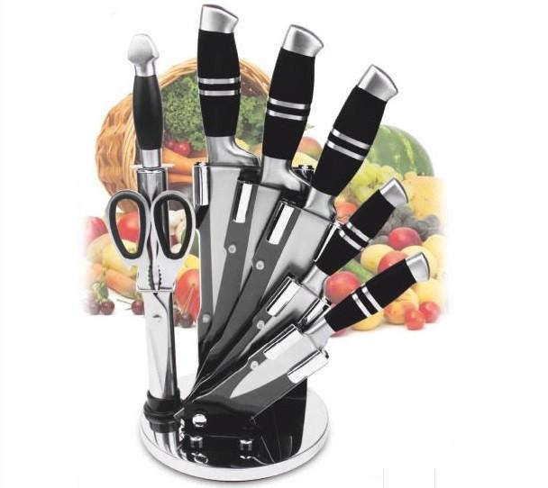 Набор ножей из нержавеющей стали на подставке Benson BN-403 (8 предметов) | кухонный нож | ножи Германия