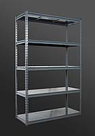 191х110х35, 5 металлических полок 250 кг на полку Стеллаж Unitrade крашеный полочный для дома в офис склад