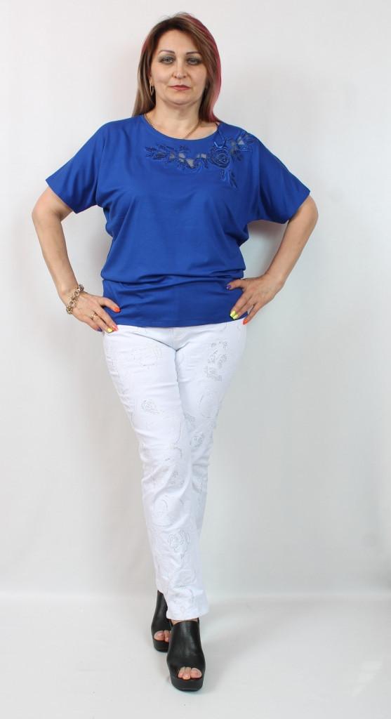 Красивая женская футболка Турция, размеры 50-54