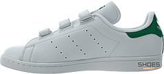 Мужские кроссовки Adidas Stan Smith CF W Ftwr White/Green S75187, Адидас Стен Смит