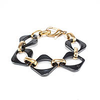 Керамический браслет Ромб Черно-золотистый BS018CR, КОД: 974170