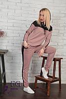 Стильный женский спортивный костюм с сеткой