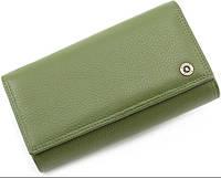 Женский Кожаный кошелек с большой монетницей на защелке BOSTON, фото 1