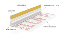 Угол ПВХ приоконный с сеткой 6*6мм с уплотнителем GP13 2,5м