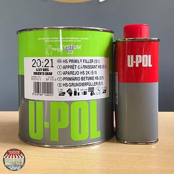 Грунт-наполнитель легкошлифуемый U-POL S2021, 1,2 литров Серый