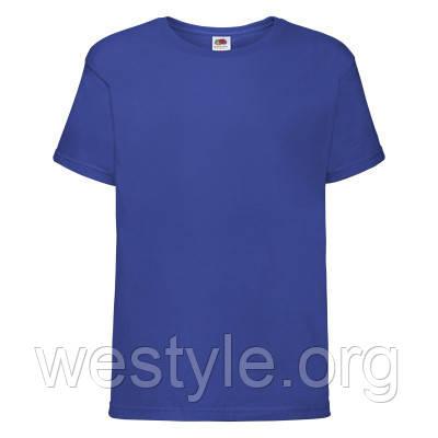 Футболка хлопковая средней плотности мягкая детская - 61015-51 ярко-синяя