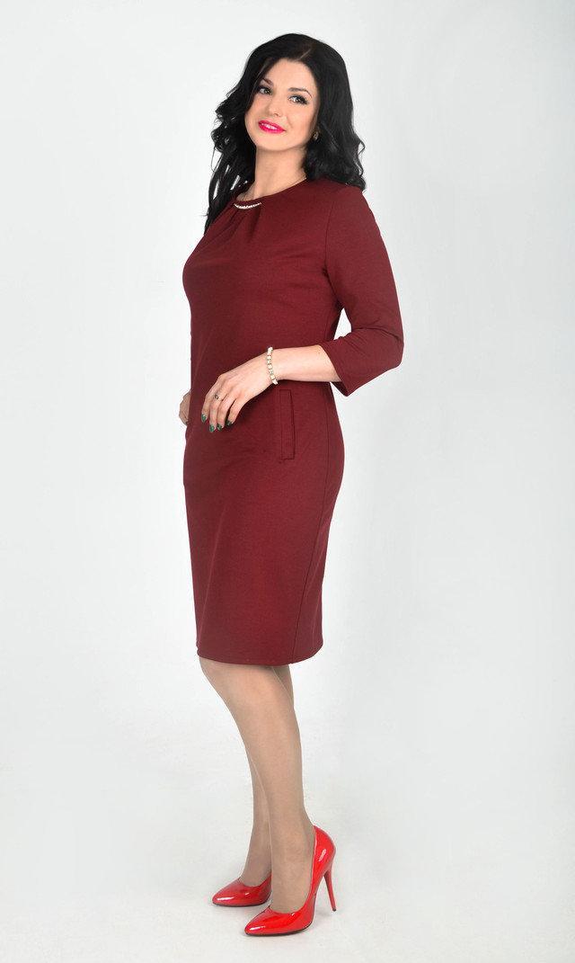 Красивое платье больших размеров с пуговицами размеры 48,52