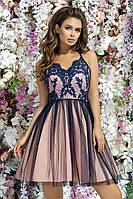 Красивое вечернее платье короткое пышная юбка выпускное платье размер:42,44,46