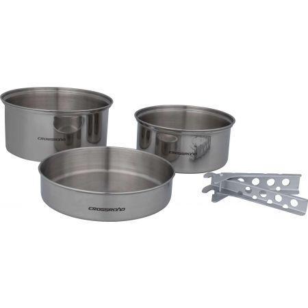 Набір посуду Crossroad TRIA, нерж. сталь