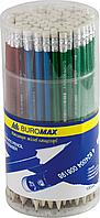 Карандаш графитовый Buromax Metallic HB ассорти