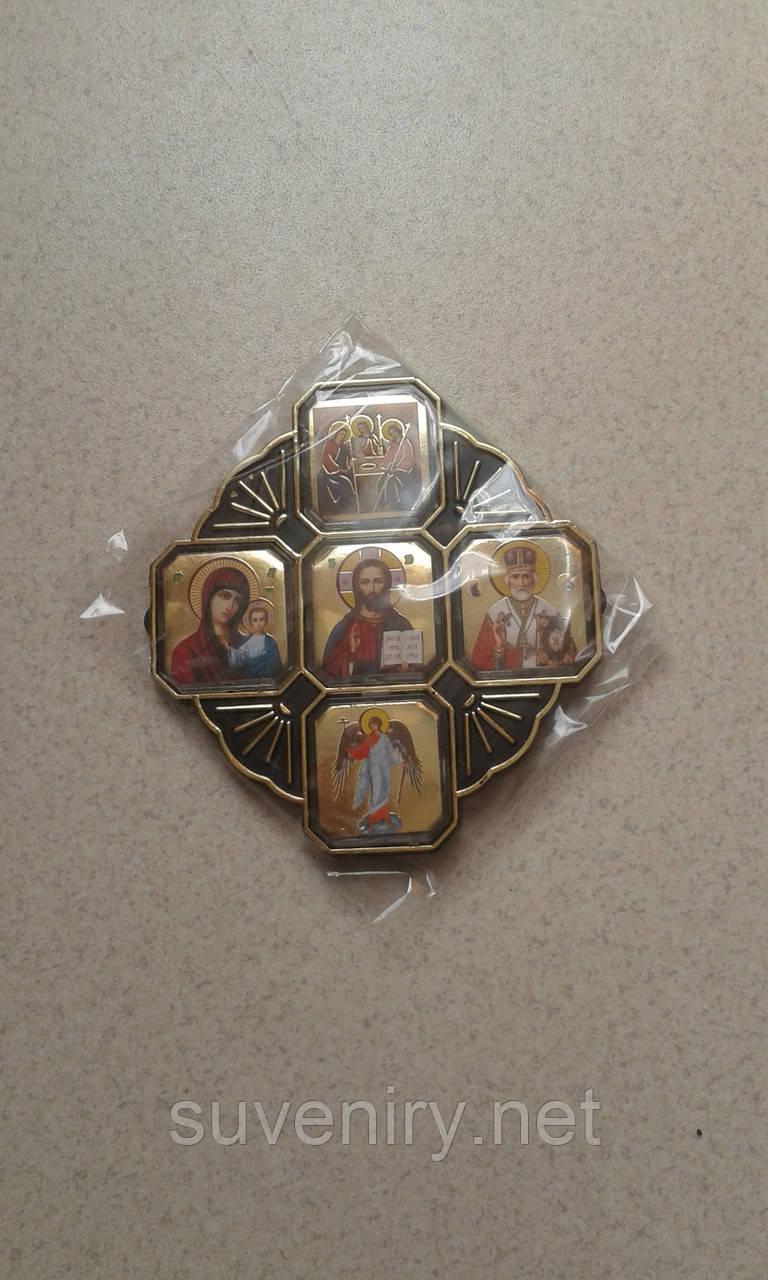 Православная иконка-оберег в машину пьять Святых