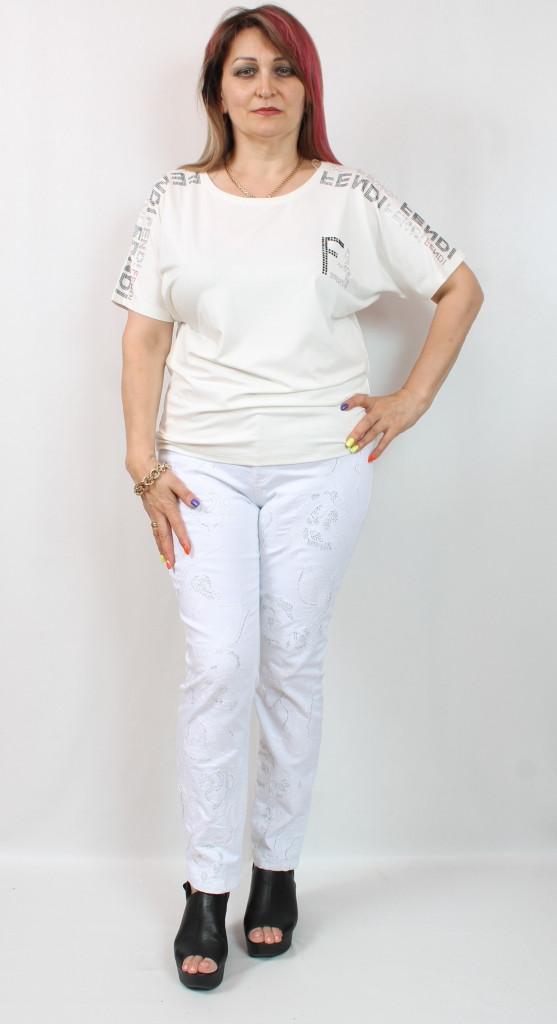 Белая футболка Турция, размеры 50-54
