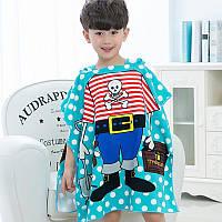 Полотенце-пончо для мальчика Пиратик FL123