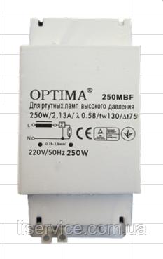 Дросель для ртутных (ДРЛ) ламп ОПТИМА 250MBF (01484), фото 2