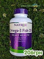 Natrol Рыбий жир витамины омега-3 натуральный лимонный вкус 1000 мг 150 мягких таблеток