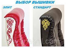 Кресло Кинг Люкс Anyfix орех Кожа Люкс Комбинированная Черная (AMF-ТМ), фото 3