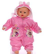 Зимний комбинезон для новорожденных Мишки розовый