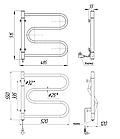 Полотенцесушитель электрический Mario Лассо-I 550x520, фото 3