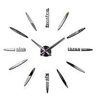 """Настенные часы 3D, большие наклейки  Зеркальный эффект """"Bullet"""""""