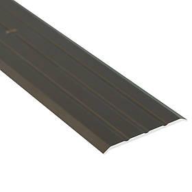 Алюминиевый профиль одноуровневый рифленый анодированный 40мм х 2.7 м бронза