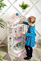 Большой домик для кукол Лол Особняк с мебелью, аксессуарами и подсветкой