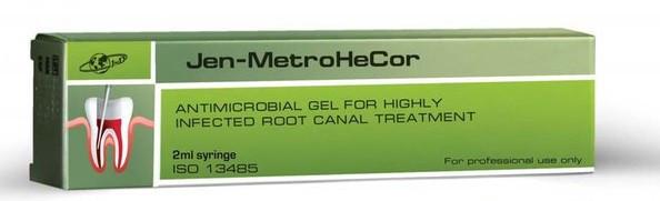 Джен МетроГеКор (Jen-MetroHeCor) Антимикробный гель для сильно инфицированных корневых каналов